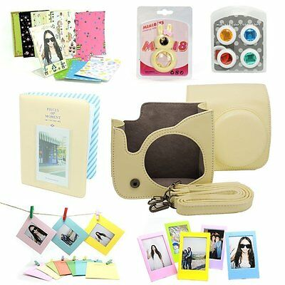 7 in 1 Fujifilm Instax Mini 8 Instant Film Camera Accessories Bundles, Yellow
