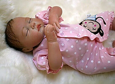 """silicone reborn baby doll 20"""" lifelike soft vinyl Real Babies dolls Full Real"""