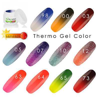 GEL UV TERMICI Nailando - 5 ml - camaleonte - cambia colore - THERMO Termo Color