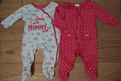Lovely Girls 'Baby' Sleepsuits. Age 6-9 months.