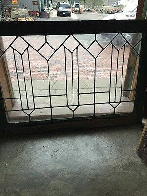 Sg 1315 Antique Leaded Glass Transom Window 25.25 X 36.25