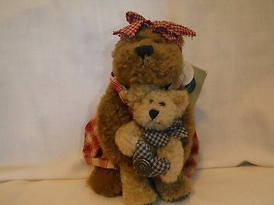 investment collectables ~ boyds bears ~ mama mcbear & delbert bears