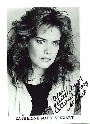Catherine Mary Stewart Television & Film Actress Hand Signed Photograph 10 x 8