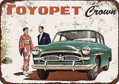 """7"""" x 10"""" Metal Sign - 1958 Toyopet Crown - Vintage Look Reproduction"""