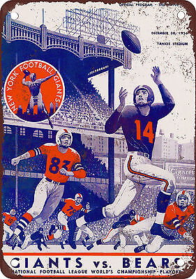 """7"""" x 10"""" Metal Sign - 1956 Pro Football Championship - Vintage Look Reproduction"""