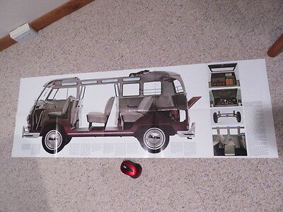 1965 Volkswagen Bus Type 2    4 Foot Poster/Brochure !