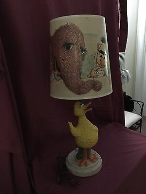 Vintage Sesame Street Muppets Big Bird Lamp w/ Original Shade 1970's