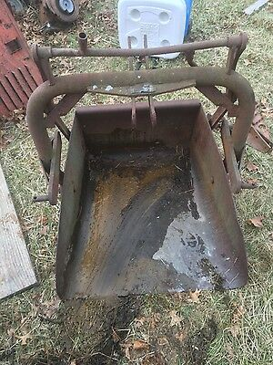 Ford tractor 3pt 3 point hitch  reversible slip scoop bucket
