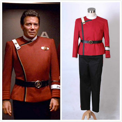 Hot! Star Trek II-VI Wrath of Khan starfleet Uniform cosplay Costume custom made