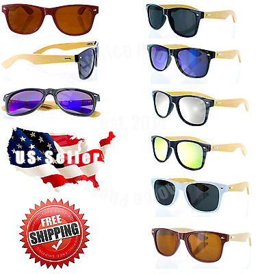 Bamboo Sunglasses Mens Womens Retro Vintage Summer Glasses Vintage Wood