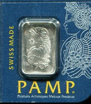 1 Gram Platinum Pamp Suisse Bar .9995 Fine Multigram Fortuna in Sealed Assay