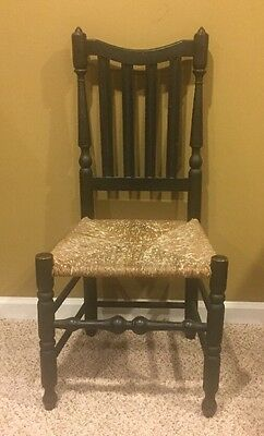 Important New York Bannister Back Side Chair American Signed Jacob Smith C. 1799