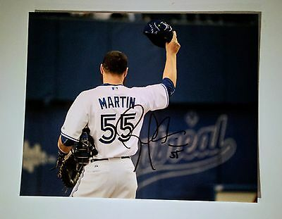 Russell Martin Signed 8x10 Photo Blue Jays