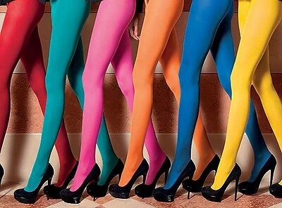 Tights Pantyhose Stockings New Opaque Quality 21 Colours Fast Free Post