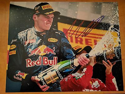 Max Verstappen Signed 8x10 Photo F1 Red Bull Proof