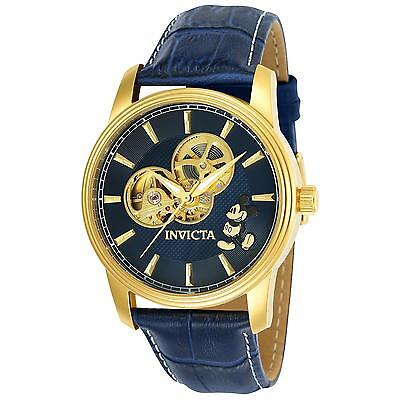 Invicta Men's Disney Limited Edition Blue Leather Band Automatic Watch 24501