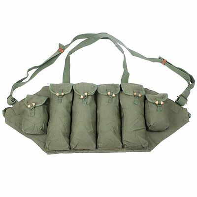 Vietnam War Chinese 81 Ak Type Chest Rig Ammo Pouch Bag Army Military