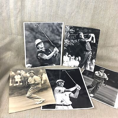 Vintage Golf Press Photograph Job Lot PGA Golfing Faldo Langer Golfers Sportsman
