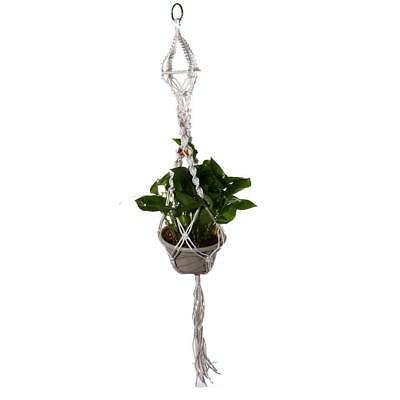 White Hanging Basket Plant Holders Hanger For Indoor and Outdoor 110cm