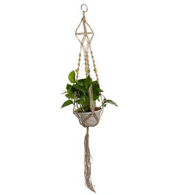 Hanging Basket Plant Holders Pot Hanger for Indoor and Outdoor Decor 110cm