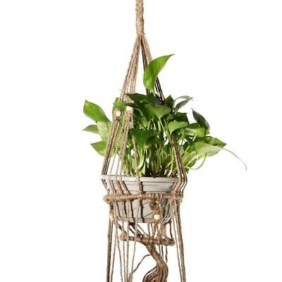 Plant Hanger Pot Holder Rope Handmade Macrame 4 Legs Hanging Basket 120cm