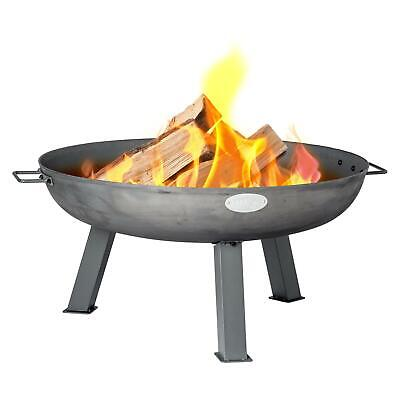 Garden Fire Pit Cast Iron Outdoor Brazier Style Flame Basket Patio Heater, 75cm