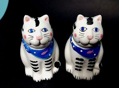 Set of Coco Dowley Cat Salt & Pepper Shakers