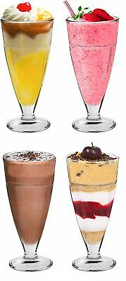 Knickerbocker Glory Dessert Sundae Ice Cream Glasses - 350ml Set Of 4