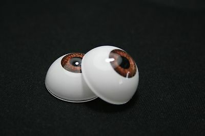 Eyes for dolls 14 mm 1 pair light brown acrylic ooak bjd reborn crafts