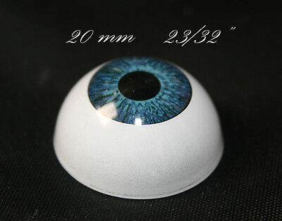 Reborn doll Eyes 20 mm  1 pair blue for bjd doll toy crafts