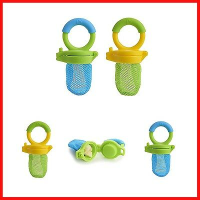 Food Feeder 2 Pack Fresh Blue Green Munchkin Dishes Free Shipping New