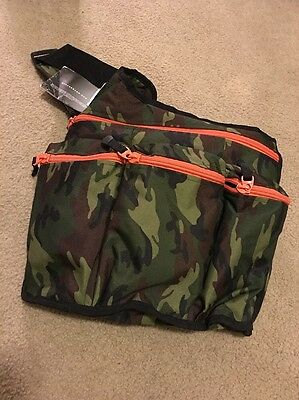 Diaper Dude Camo Messenger Style Diaper Bag Green Camoflauge FATHERS DAY GIFT