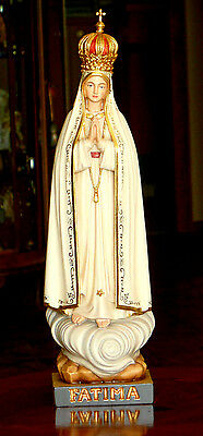 Fatima Madonna aus Holz, Mutter Gottes Maria, Mary wood, Figur