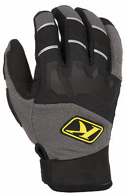 Klim Mens Gray/Black Dakar Dirt Bike Off Road Gloves MX ATV