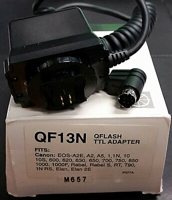 NEW Quantum QF13N QFlash TTL Adapter Cable/Cord for Canon A2E 1N T90 Elan Rebel