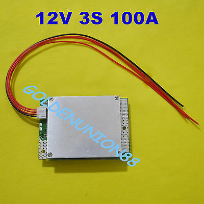 12V 3S 100A PCM BMS for 18650 26650 Li-ion LiPO battery with balance charging