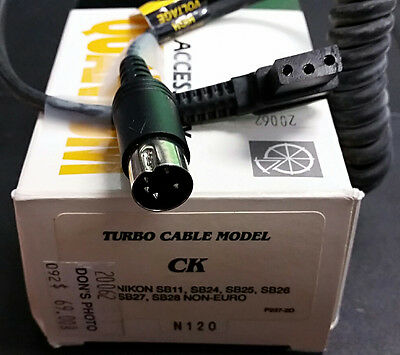 NEW Quantum Turbo Cable Model CK flash cord: Nikon SB28 SB27 SB26 SB25 SB24 SB11