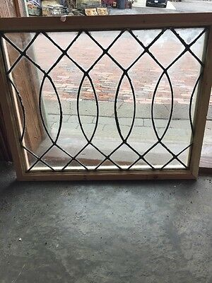 Sg 1317 Antique Leaded Glass Window 22.25 X 27.5