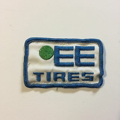 Vintage Patch EE Tires Blue White Green