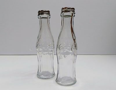 Coca-Cola Salt and Pepper Glass Contour Bottles - BRAND NEW