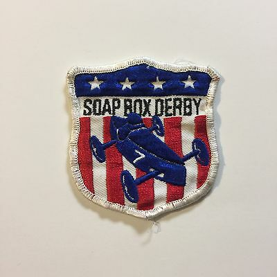 Vintage Patch Soap Box Derby Four Starts Blue #7 Red White