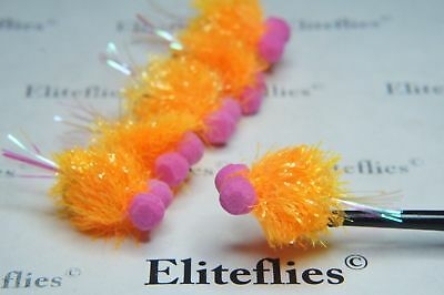 12 x Eliteflies blob booby flash tail fly fishing flies lures various colours