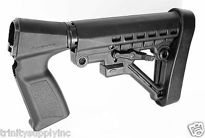 TACTICAL 6 POSITION Stock With Grip Buttstock Pad Kit
