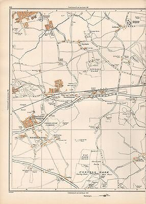 1938 Original Yorkshire Vintage Map Sharlston Foulby Ackton Streethouse Noste