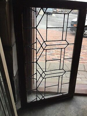 St 1339 Antique Leaded Glass Transom Window 20 5H By 40.25 Long