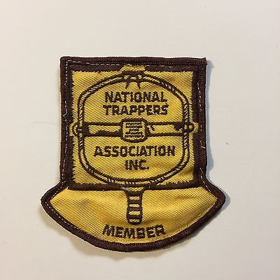 Vintage Patch National Trappers Association Inc Member Yellow Brown