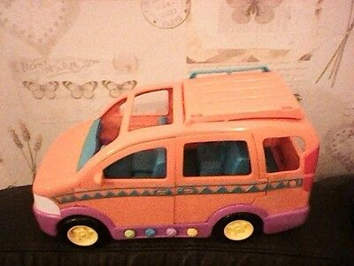 Dora Explorer Van Pink + Orange 2003  32Cm Long 18Cm High Mattel Sounds Music