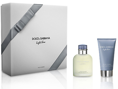 Dolce & Gabbana Light Blue Gift Set 75Ml Edt + 75Ml Aftershave Balm For Him New