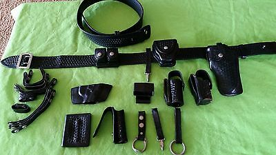 Safariland Police Duty Basket weave Belt, Holster and Accessories