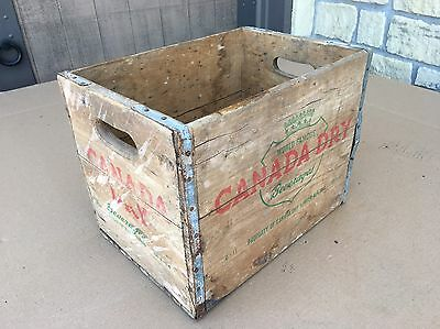 """Vintage Canada Dry Ginger Ale Wood Crate 16"""" x 11"""" x 12"""""""